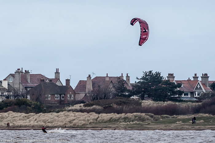 Kite surfer at West Kirby, Wirral